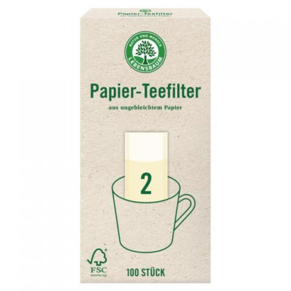 Čajové filtre z nebieleného papiera 100ks