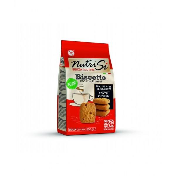 Sušienky s červeným ovocím Biscotto vegán. 250g