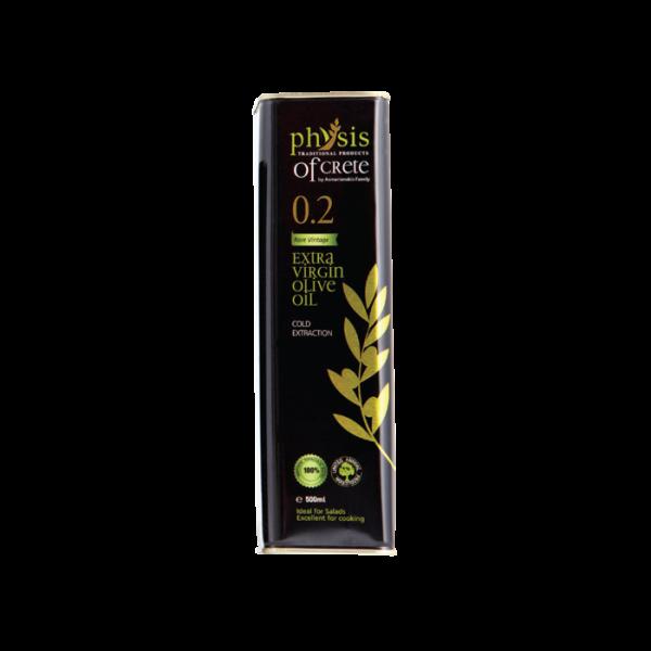 Olivový olej extra panenský -Physis of Crete, acidita max 0,29%,  0,5L plech