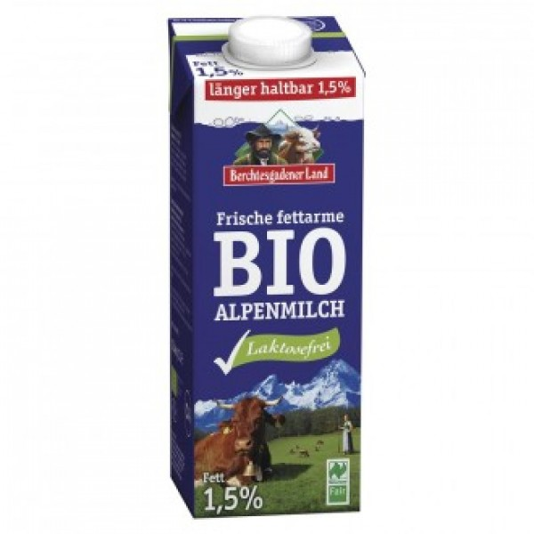 Alpské polotučné mlieko bezlakt. BIO 1L