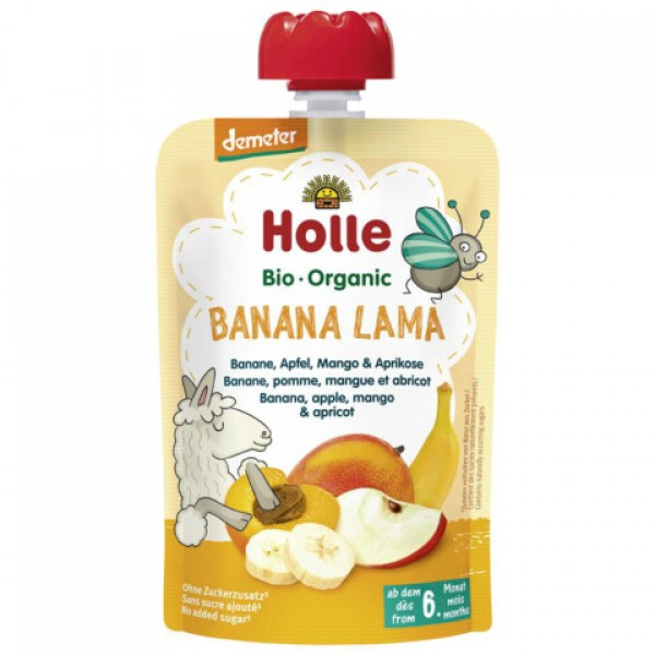 Pyré banánová lama Holle BIO 100g