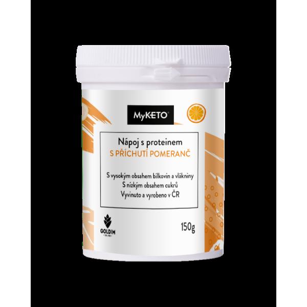 MyKETO Nápoj s proteínom pomarančový 150g