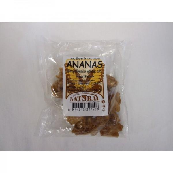 Sušené ovocie ananás bez cukru 100g Natural