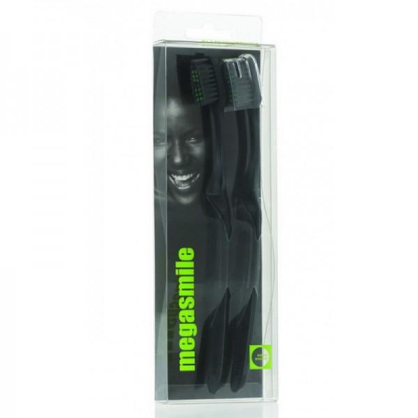 Uhlíková bieliaca zubná kefka Megasmile 2ks