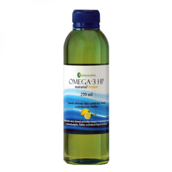 Rybí olej Omega-3 HP natur. citrón 270ml Nutraceutica