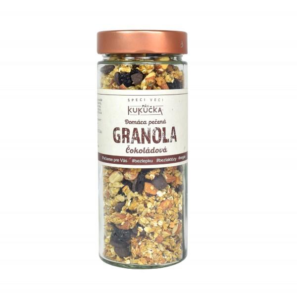 Bezlepková granola čokoládová Pán Kukučka v skle 300g