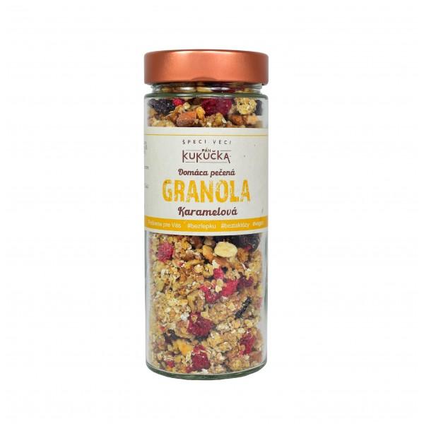 Bezlepková granola karamelová Pán Kukučka v skle 300g