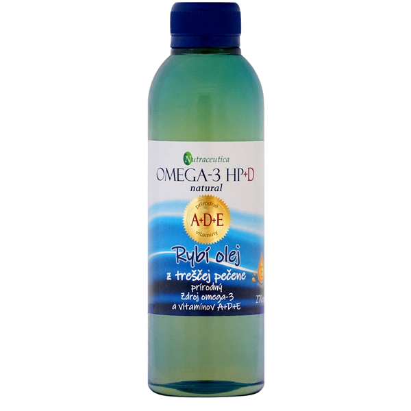Rybí olej Omega-3 HP+DE natural 270ml Nutraceutica