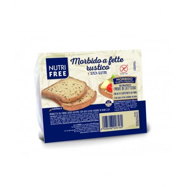 Rustikálny tmavý chlieb Morbido a fette bezlepkový 165g