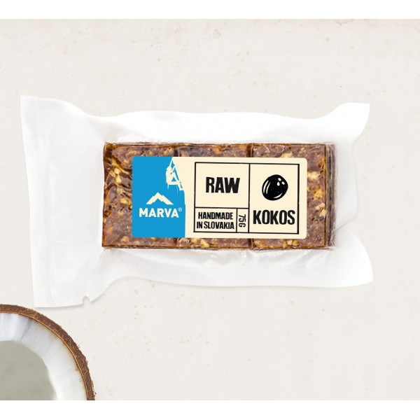 Tyčinka Marva kokos RAW 75g
