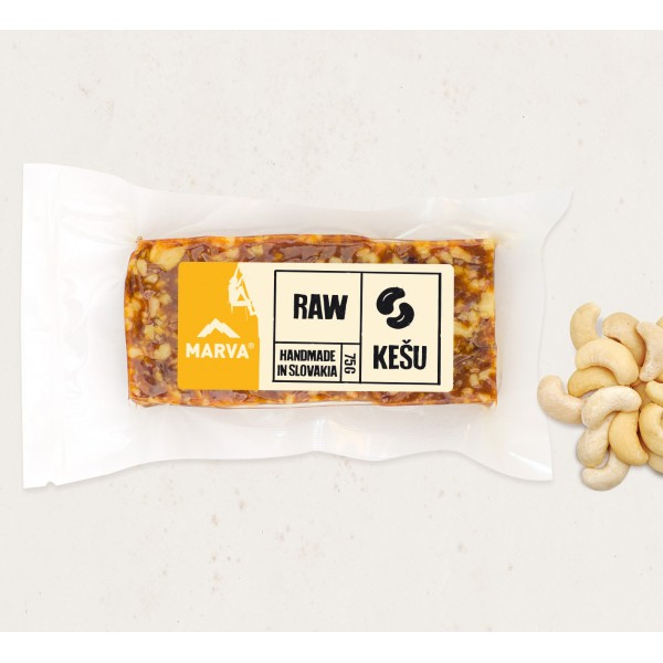 Tyčinka Marva kešu RAW 75g