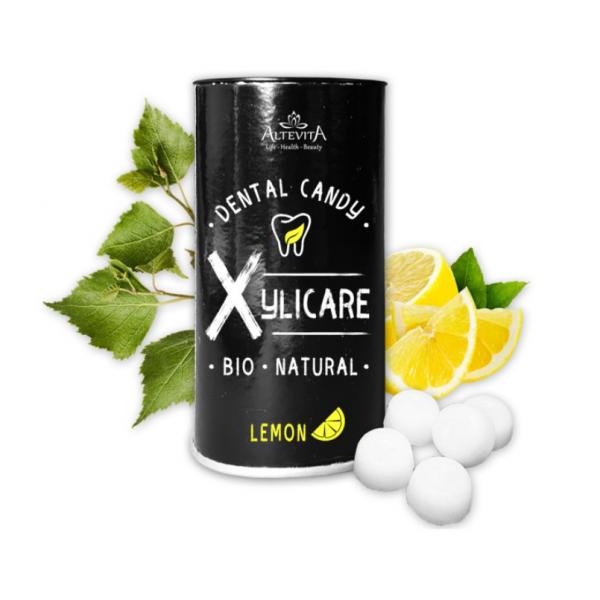 Cukríky z brezového cukru Xylicare citrón BIO 95g