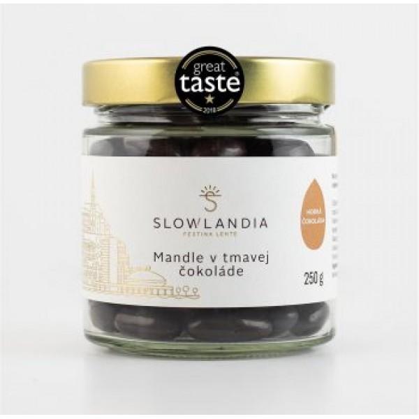 Mandle v tmavej čokoláde Slowlandia 250g