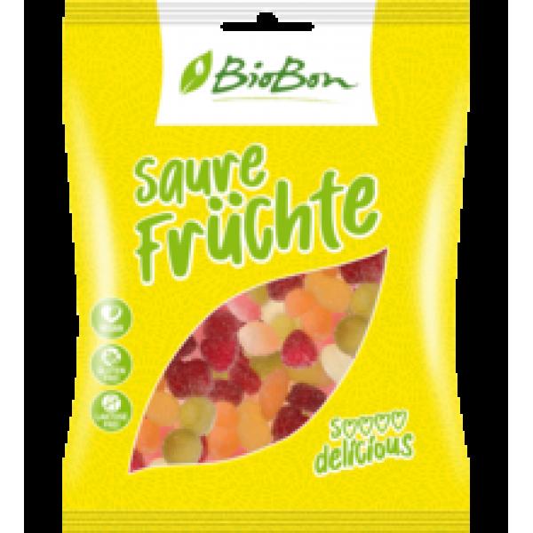 Gumové cukríky Kyslé ovocie vegánske BIO 100g