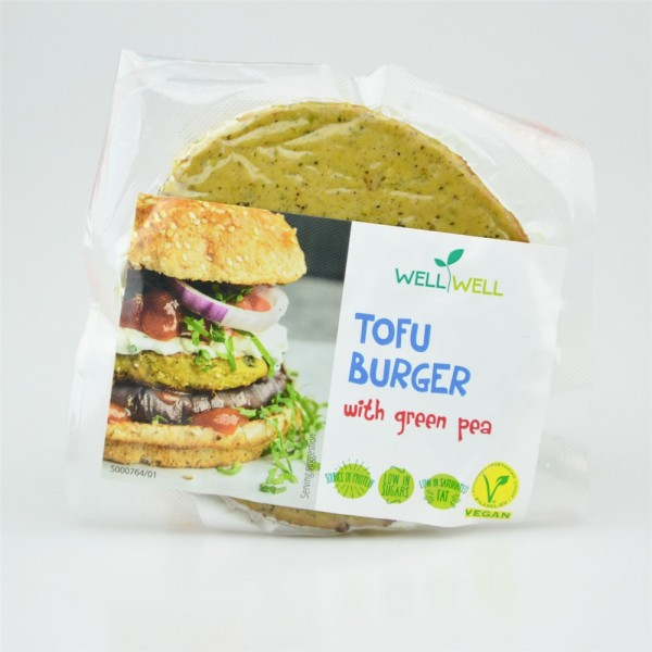 Tofuburger so zeleným hráškom 100g