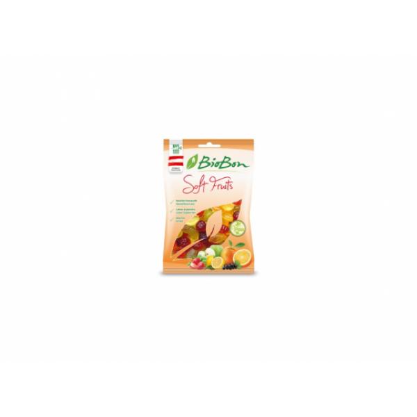 Gumové cukríky záhradné ovocie BIO 100g