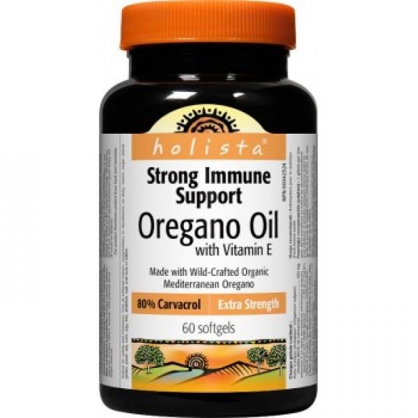 Oregánový olej s vitamínom E 60 kapsúl