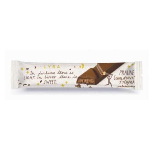 Tyčinka čokoládová mliečna praline 33g