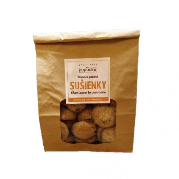 Bezlepkové pohánkové škoricovo brusnicové sušienky Pán Kukučka 300g