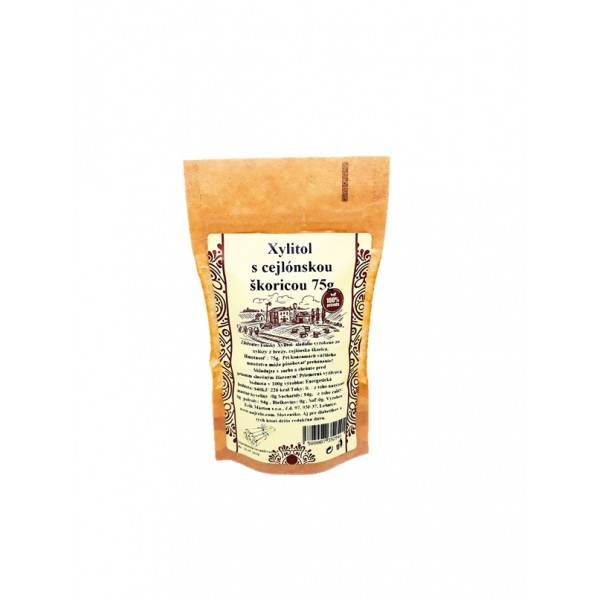 Škoricový brezový cukor s cejlónskou škoricou 75g