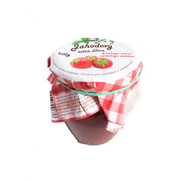 Jahodový džem s brezovým cukrom 200g