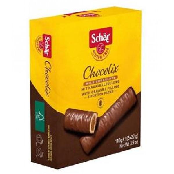 Oblátky Chocolix v mliečnej čokoláde (5x22g) 110g Schär