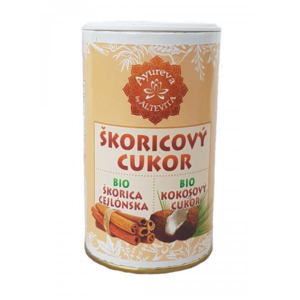 BIO Škoricový cukor kokosový v cukorničke 100g