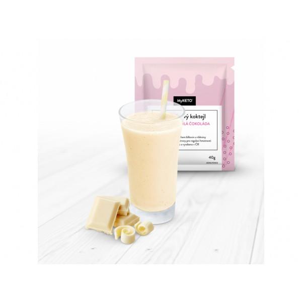 MyKETO Proteínový koktail s príchuťou biela čokoláda 1 porcia 40g