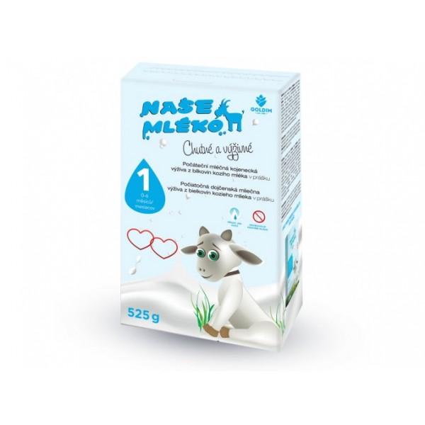 Goldim Naše MLÉKO - 1 výživa z kozieho mlieka 0-6m 525 g