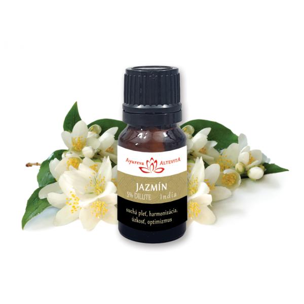 Esenciálny olej JASMINE Dilute 5%  (5% jazmín v hroznovom oleji)