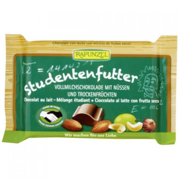 Čokoláda mliečna  Študentská zmes BIO Rapunzel 100g