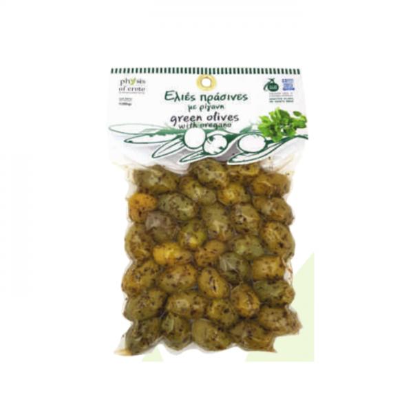 Olivy zelené s oregánom Physis of Crete 250g