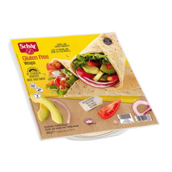 Placka Wraps tortila 160g Schär