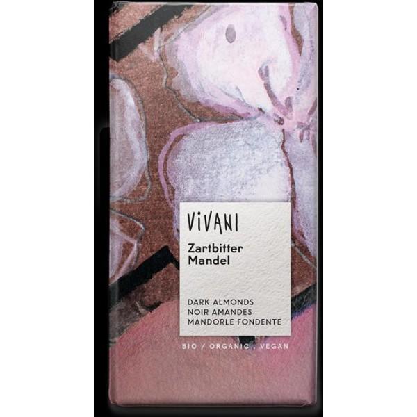 Čokoláda horká s mandľami BIO 100g Vivani