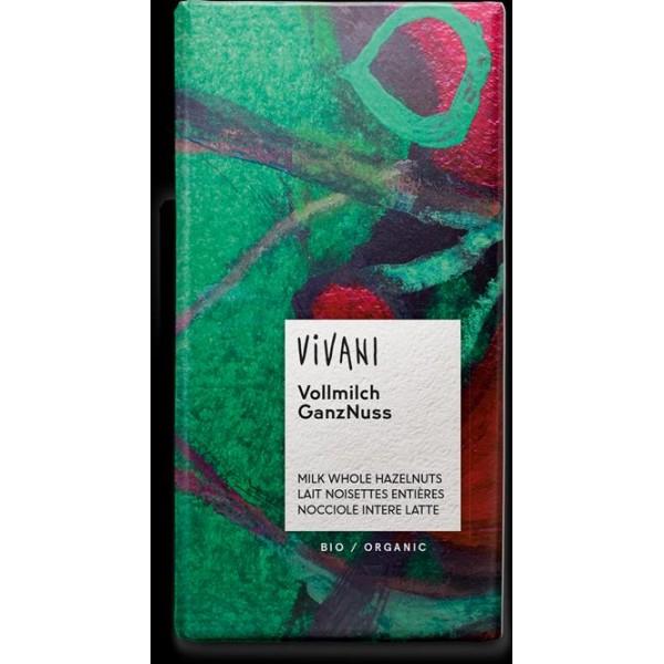 Čokoláda mliečna s lieskovými orieškami BIO 100g Vivani