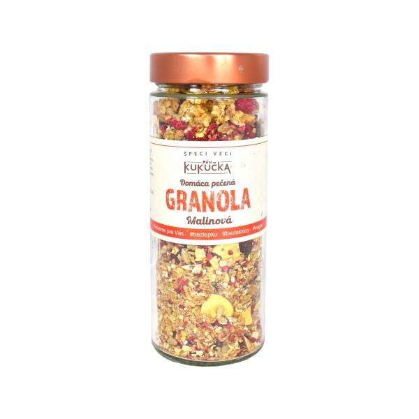 Bezlepková granola malinová Pán Kukučka 300g