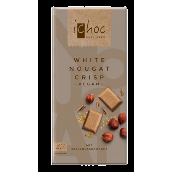 Čokoláda ryžová biely nugát s lieskovcami BIO 80g