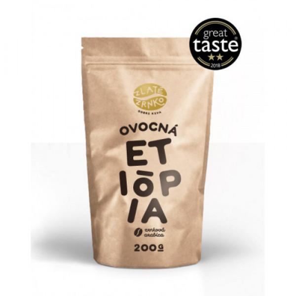 Zrnková prémiová káva Etiópia arabika 200g