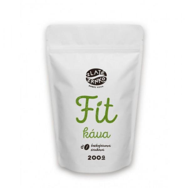 Zrnková káva FIT bezkofeínová 100% arabika 200g