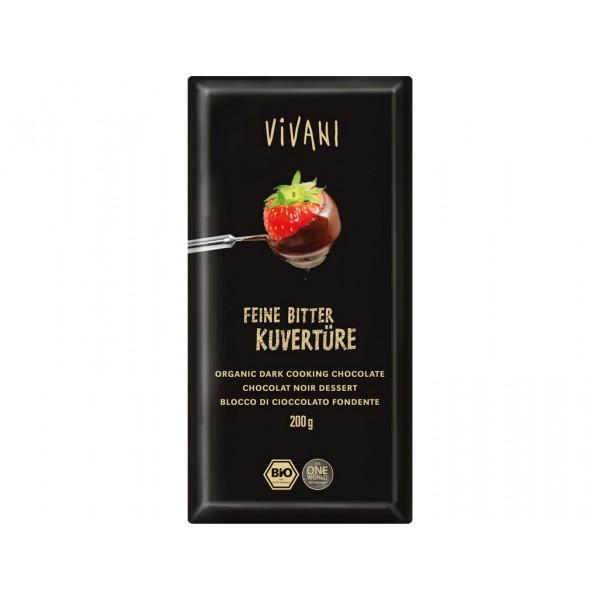 Čokoláda na varenie horká BIO 200g Vivani