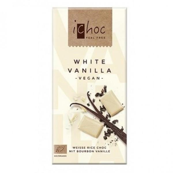 Biela ryžová čokoláda s vanilkou BIO 80g