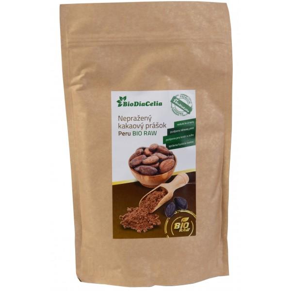 Nepražený kakaový prášok Peru BIO RAW  BioDiaCelia 250g