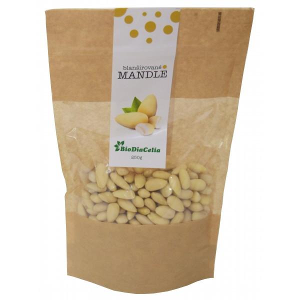 Mandle blanšírované Biodiacelia 250g