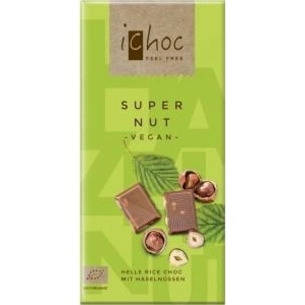 Čokoláda ryžová s orieškami BIO 80g