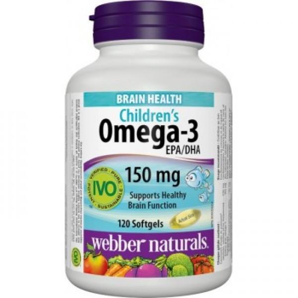 Omega-3 pre deti s pomaranč. príchuťou 120tbl./150mg