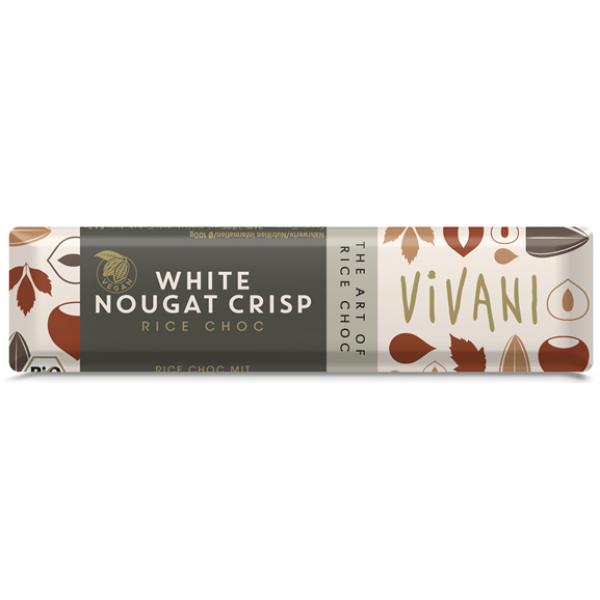 Tyčinka čokoládová ryžová biela nugátová BIO 35g