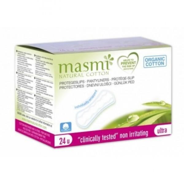 Slipové vložky ultratenké Masmi BIO 24ks