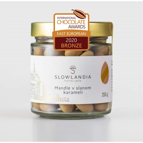 Mandle v slanom karameli 250g Slowlandia