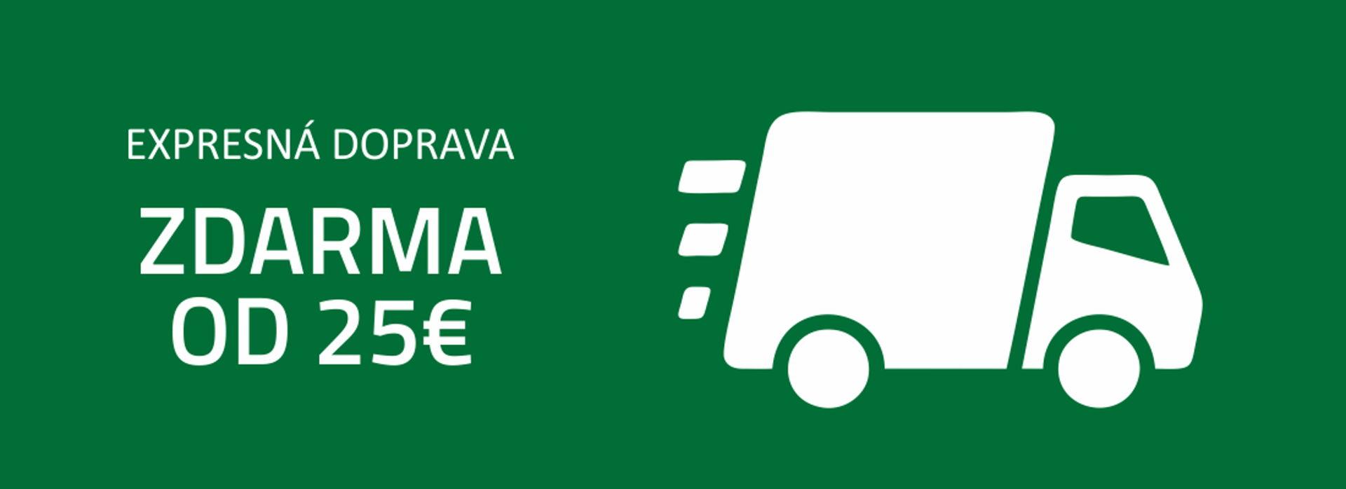 Doprava zdarma od 25€!